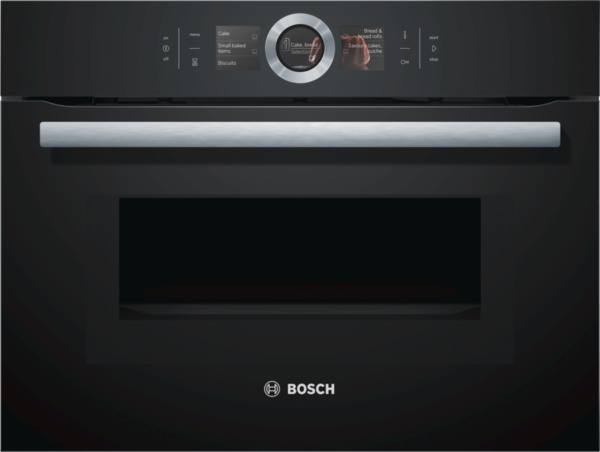 bosch cmg676bb1 kompakt backofen mit mikrowelle serie8 ebay. Black Bedroom Furniture Sets. Home Design Ideas