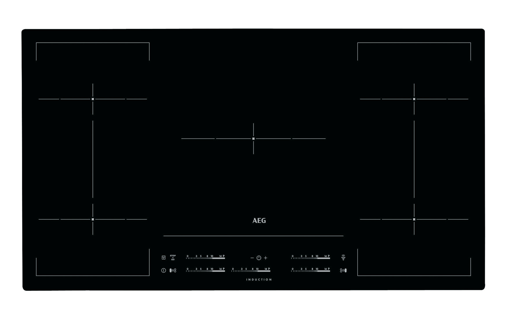 aeg hkm95513i b induction hob ceramic border 90 cm ebay. Black Bedroom Furniture Sets. Home Design Ideas