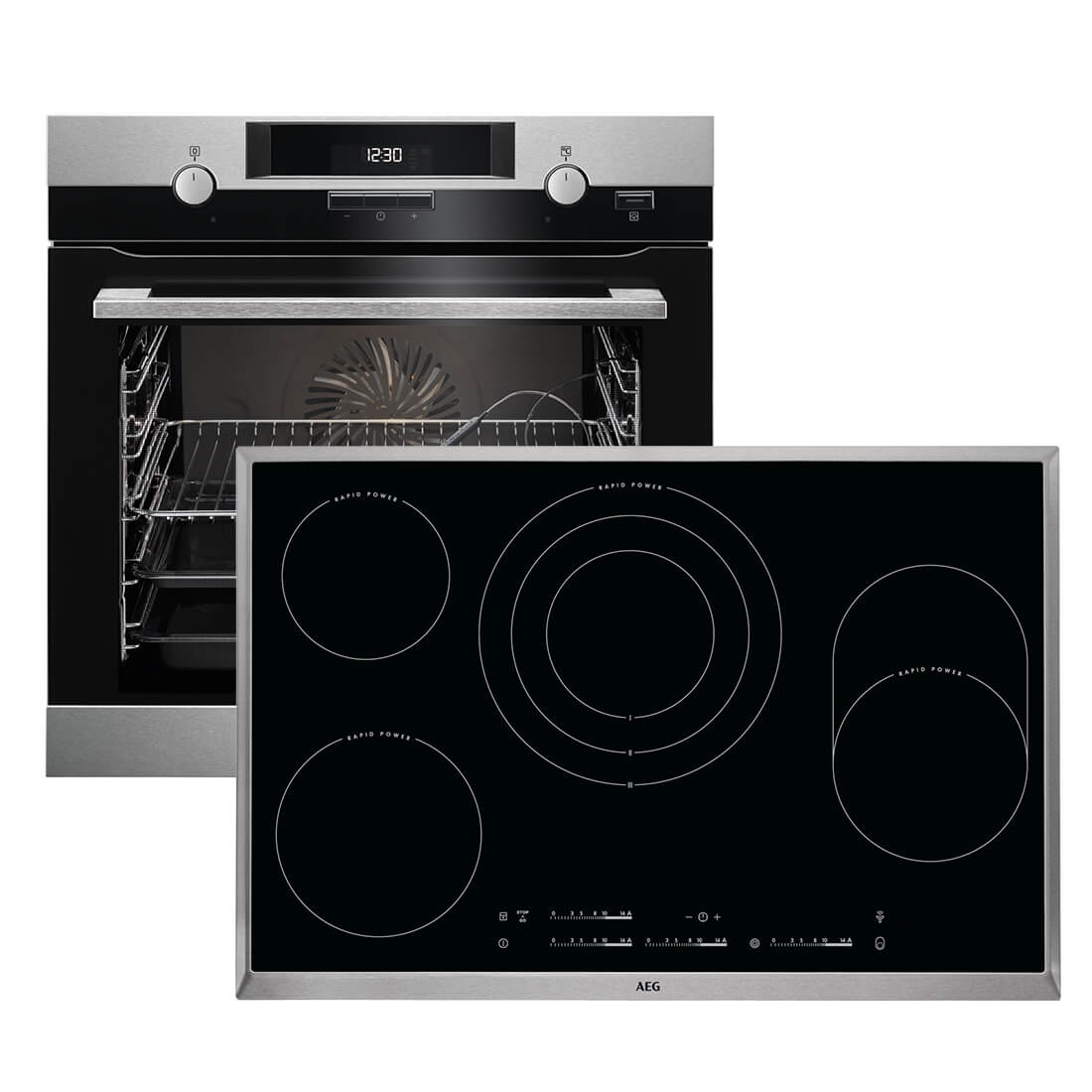 aeg bck453 backofen set bck452210m backofen hk854870x. Black Bedroom Furniture Sets. Home Design Ideas