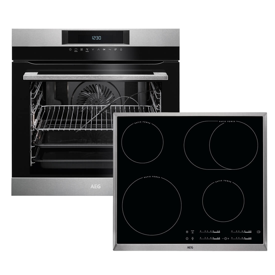 aeg bpk742 backofen set bpk742220m backofen hk654850x b autark ceran kochfel ebay. Black Bedroom Furniture Sets. Home Design Ideas