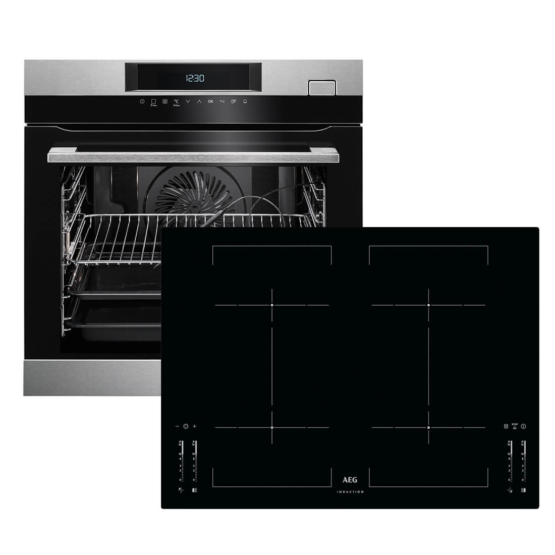 aeg bsk775i backofen set bsk774220m backofen hkm76400i b autark induktions k ebay. Black Bedroom Furniture Sets. Home Design Ideas